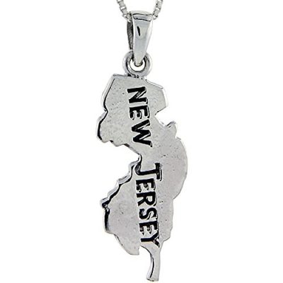 Sterling-Silver-New-Jersey-State-Map-Pendant-1-34-inch-tall-0