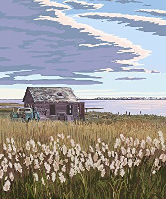 The-Shack-Long-Beach-Island-New-Jersey-9x12-Collectible-Art-Print-Wall-Decor-Travel-Poster-0
