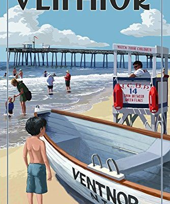 Ventnor-New-Jersey-Lifeguard-Stand-9x12-Collectible-Art-Print-Wall-Decor-Travel-Poster-0