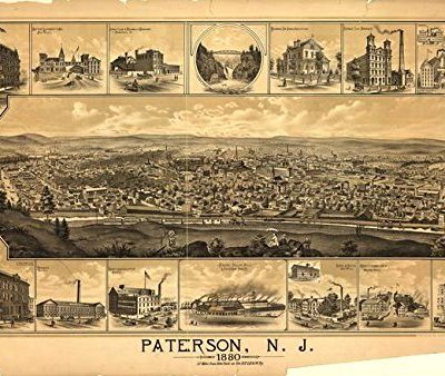 Wall-Art-Print-entitled-Vintage-Pictorial-Map-Of-Paterson-NJ-1880-by-Alleycatshirts-Zazzle-32-x-22-0