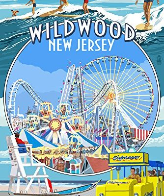 Wildwood-New-Jersey-Montage-9x12-Collectible-Art-Print-Wall-Decor-Travel-Poster-0