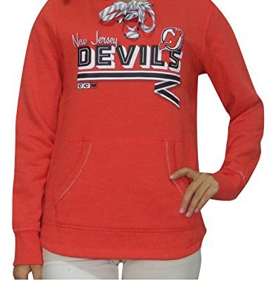 Womens-Athletic-Warm-Hockey-Hoodie-SweatshirtNJ-DEVILS-M-Red-0
