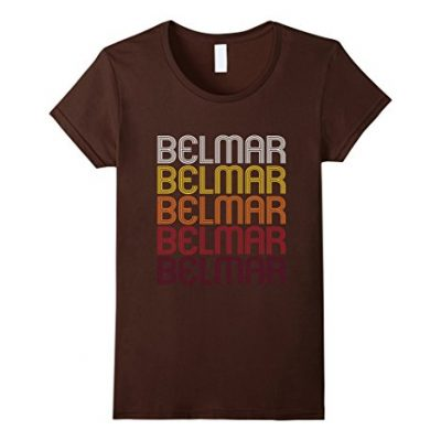 Womens-Belmar-NJ-Vintage-Style-New-Jersey-T-shirt-Medium-Brown-0