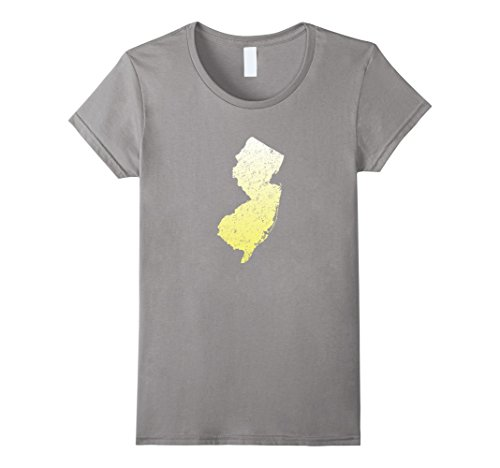 Womens New Jersey State Map T Shirt Nj Pride Home State Us Tee