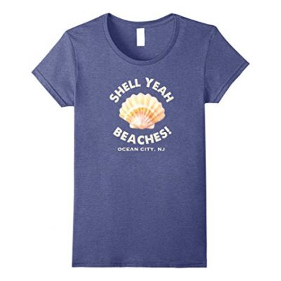Womens-Ocean-City-NJ-Shell-Yeah-Beaches-T-Shirt-Summer-Tee-Small-Heather-Blue-0