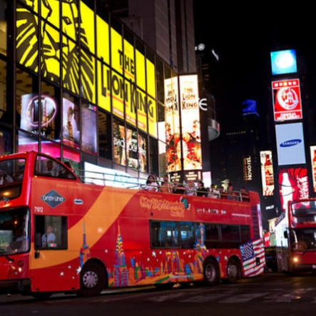 New York Double Decker Bus Night Tour